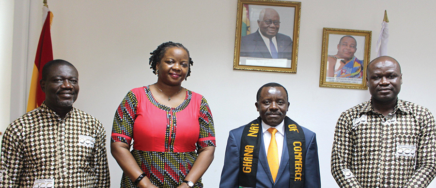 AMB. NELSON OCHEGER, HIGH COMMISSIONER OF UGANDA PAID A COURTESY CALL ON THE CHAMBER