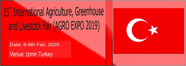 15th International Agriculture, Greenhouse and Livestock Fair (AGRO EXPO 2019)